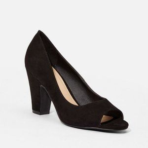 JustFab 9.5 Sandra Dee Open Toe Pump Heels Shoes